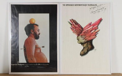 2 Polish Art Exhibition Posters
