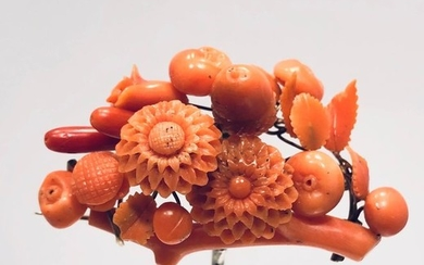 Pink gold - Brooch Coral