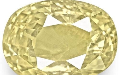 5.24-Carat GIA-Certified Unheated Oval-Cut Light Yellow