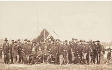 Group Portrait of General Meade and Staff, Cold Harbor,