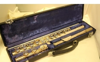 A Boosey and Hawkes London Emperor Silver Plated Flute in or...