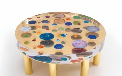 "A Coffee Table Mod. ""Cosmos"", designed and manufactured by Studio Superego"