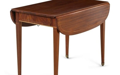 A Federal Style Inlaid Mahogany Pembroke-Type Extension