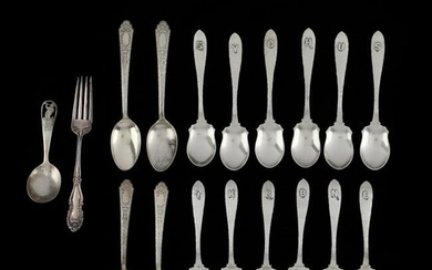A Grouping of Sterling Silver Flatware