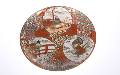 A JAPANESE KUTANI CHARGER, LATE 19TH CENTURY, decorated