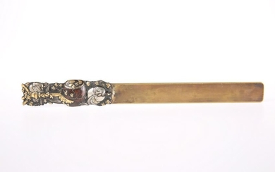 A JAPANESE MEIJI PERIOD PAGE TURNER, silvered, gilded