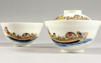 A PAIR OF CHINESE 2OTH CENTURY EGGSHELL PORCELAIN TEA