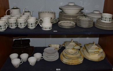 A Royal Doulton 'Tapestry' pattern part dinner service comprising tea...