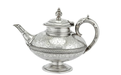 A Victorian sterling silver four-piece tea and coffee