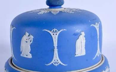 A WEDGWOOD JASPERWARE CHEESE DOME, decorated with neo