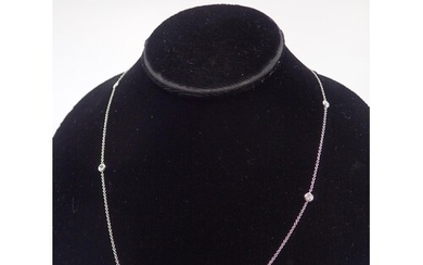A diamond necklet, set in 18ct gold approx. 3.5 grams