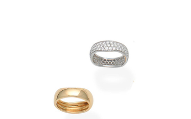 A diamond ring and a ring,