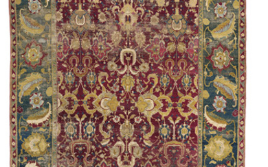 AN AGRA CARPET, NORTH INDIA, CIRCA 1860