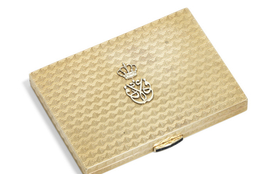 AN ELIZABETH II JEWELLED GOLD CIGARETTE-CASE, BY ASPREY & CO., LONDON, 1955/1956
