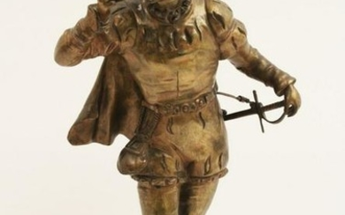 ANFRIE, FRENCH BRONZE MODEL OF JESTER