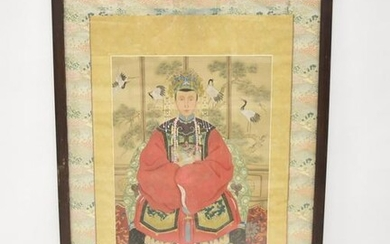 ANTIQUE CHINESE ANCESTRAL PAINTINGS ON SCROLL