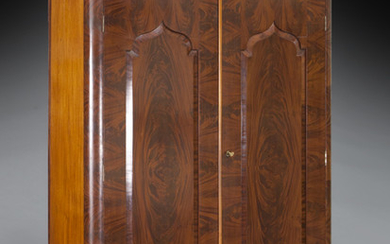American Victorian flame mahogany armoire