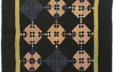 An Amish Double Nine Patch quilt
