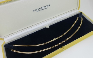 An Italian 9ct gold chain necklace by Unoaerre,
