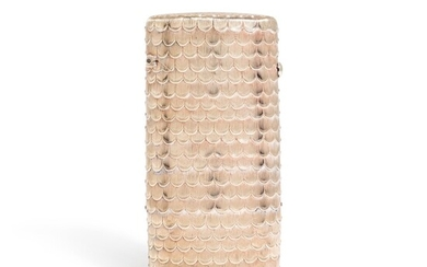 An articulated gold 'fish scale' case, possibly Scandinavian, early 19th century