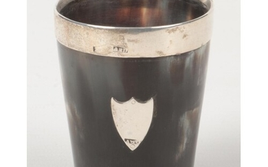 An early 19th century Scottish provincial horn beaker of con...