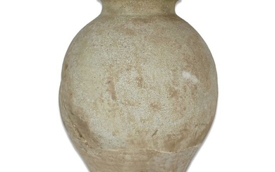 Ancient Chinese, Tang Dynasty Pottery LARGE Ovoid glazed jar - 280×210×0 mm - (1)