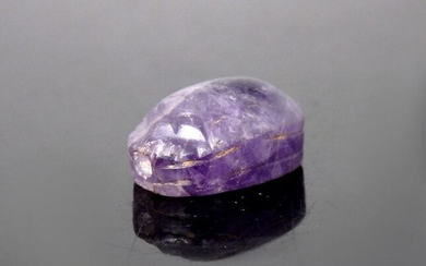 Ancient Egyptian Amethyst Scarab Amulet - 13mm length