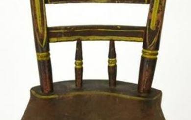 Antique 19th C American Miniature Doll Size Chair