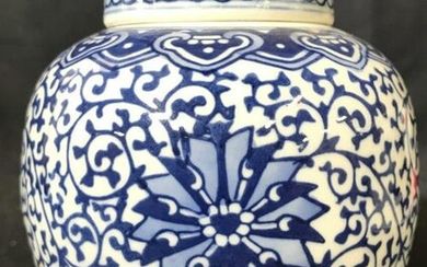 Antique Asian Porcelain Chinoiserie Ginger Jar