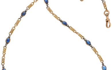 Antique Sapphire, Diamond, Gold, Silver Jewelry, Russian The necklace...