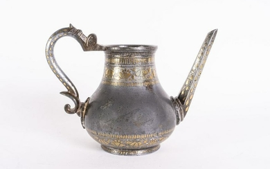 Arte Indiana A Bidri brass inlaid jug Southern India
