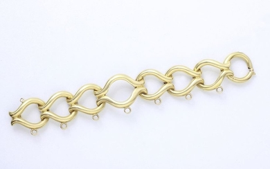 Articulated bracelet in gold 750 thousandths composed of...