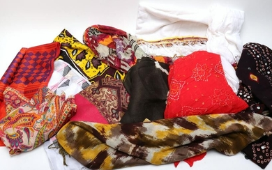 Assorted Indian & Boho Scarves, Group of 12
