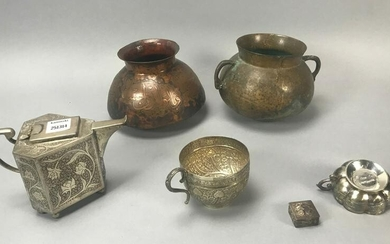 Assorted Middle Eastern Copper Pots