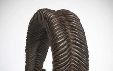 BAOULE, Ivory Coast. Magnificent woven leather belt, patinated...