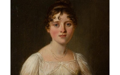 BRITISH SCHOOL (19TH CENTURY) PORTRAIT OF A LADY OF THE ROLLAND FAMILY