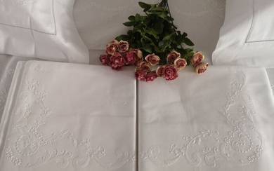 Bellavia cotton percale hand embroidery sheets - Cotton - AFTER 2000