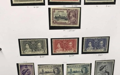 CYPRUS, GIBRALTAR & MALTA COLLECTION: Binder with the mostly...