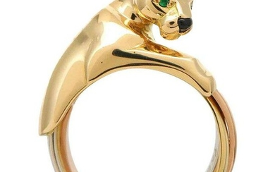 Cartier 18K Yellow Gold Trinity Gold Panthere Ring