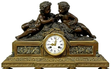 Jean-Jacques Feuchere (French 1807-1852) Mantle Clock