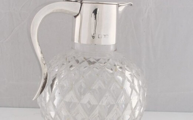 Decanter, Claret jug - .925 silver, Sterling Silver - W & G Neal, London - England - Late 19th century