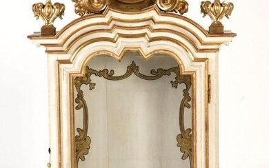 Display cabinet, Door Relics - Lacquered and gilded wood - 19th century