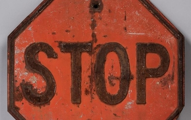 Early Metal Stop Sign