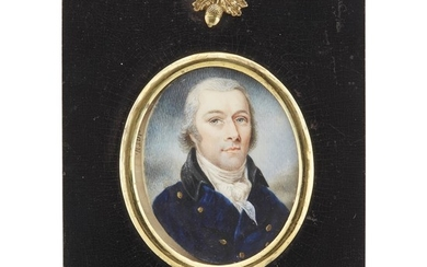 English School 19th century Portrait miniature of Joseph Smith,...