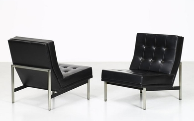 FLORENCE KNOLL BASSETT Pair of armchairs.