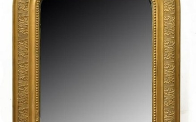 FRENCH CHARLES X STYLE CARVED GILTWOOD MIRROR