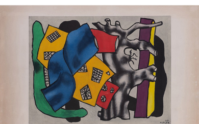 Fernand Leger (1881-1955) La racine grise - circa 1953 Color lithograph on Arches watermarked paper, full margins Signed in blue bal...