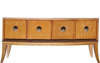 French Deco Style Marble Top Credenza & 10 Chairs