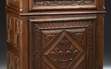 French Louis XIII Style Carved Oak Confiturier, 19th