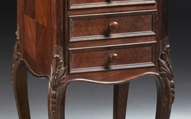 French Louis XV Style Carved Mahogany Marble Top